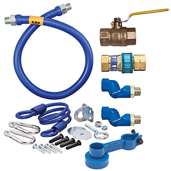 """Dormont 1675KIT2S24 Deluxe SnapFast® 24"""" Gas Connector Kit with Two Swivels and Restraining Cable - 3/4"""" Diameter Main Image 1"""