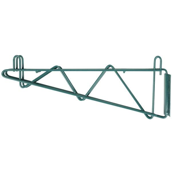 Regency 18 inch Deep Double Wall Mounting Bracket for Adjoining Green Epoxy Wire Shelving