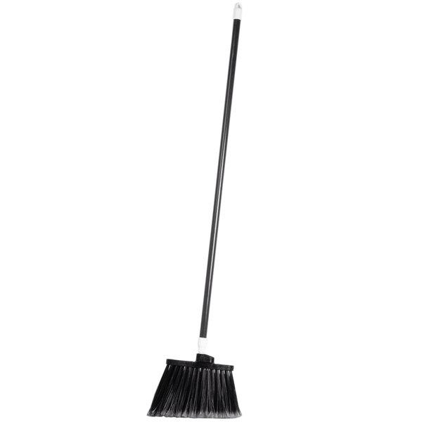 "Carlisle 4108203 Sparta Duo-Sweep 56"" Flagged Black Angle Broom - 12/Case"