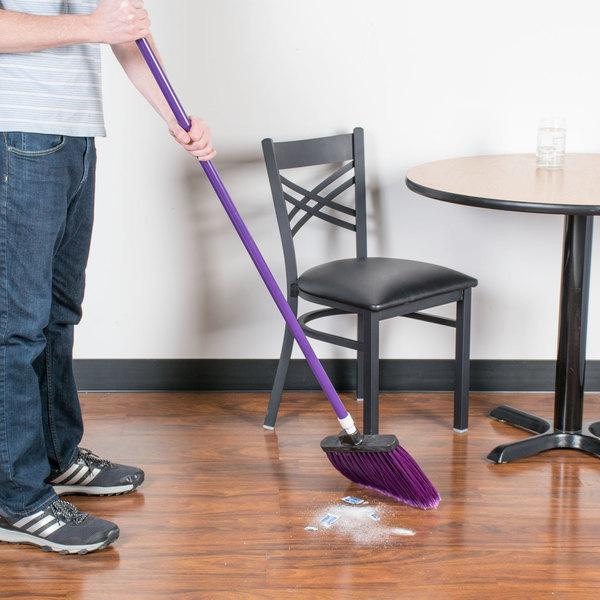 "Carlisle 4108268 Sparta Spectrum Duo-Sweep 56"" Flagged Purple Angle Broom"