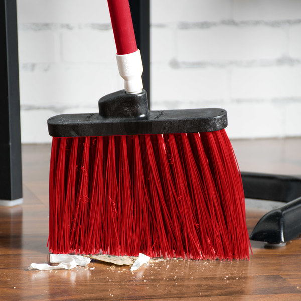 """Carlisle 4108305 Sparta Spectrum Duo-Sweep 56"""" Unflagged Red Angle Broom - 12/Case"""