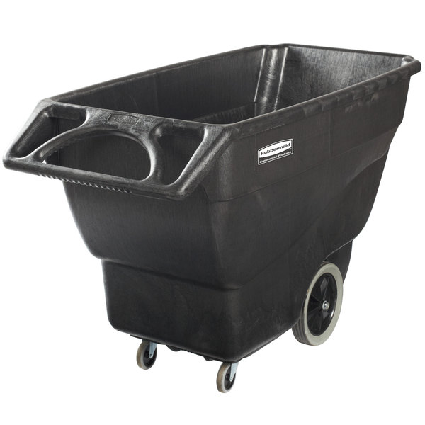 Rubbermaid 1867539 Black 0.75 Cubic Yard Tilt Truck (600 lb.)