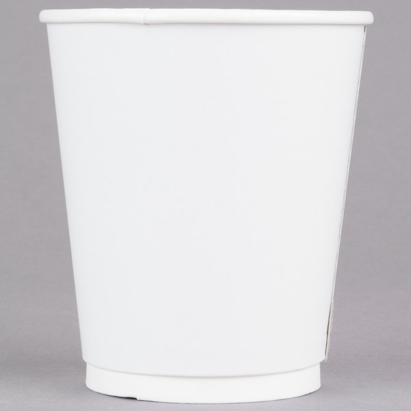 LBP 3001 Gourmet White 12 oz. Double-Wall Poly Paper Hot Cup - 580/Case