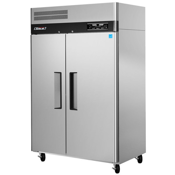 """Turbo Air JRF-45 50"""" J Series Two Section Dual Temperature Reach In Refrigerator / Freezer Combo"""