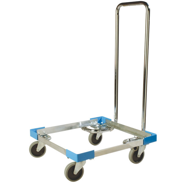 Carlisle C2222A14 Aluminum Glass Rack Dolly with Handle Main Image 1