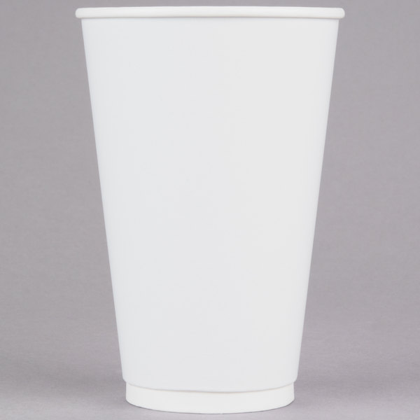 LBP 3003 Gourmet White 20 oz. Double-Wall Poly Paper Hot Cup - 27/Pack