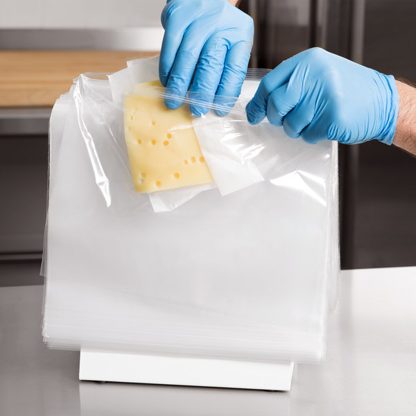 "10 1/2"" x 8"" Unprinted Plastic Deli Saddle Bag with Seal Top - 1000/Case"