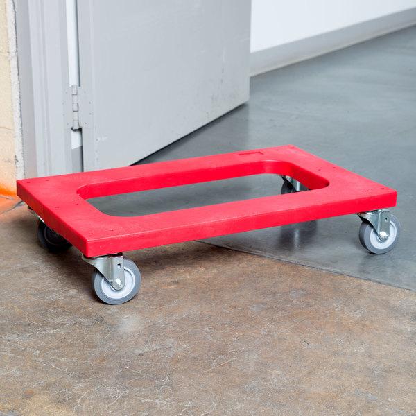 """Rubbermaid FG9T5400RED Polyethylene Flush Deck Dolly - 30"""" x 18"""""""