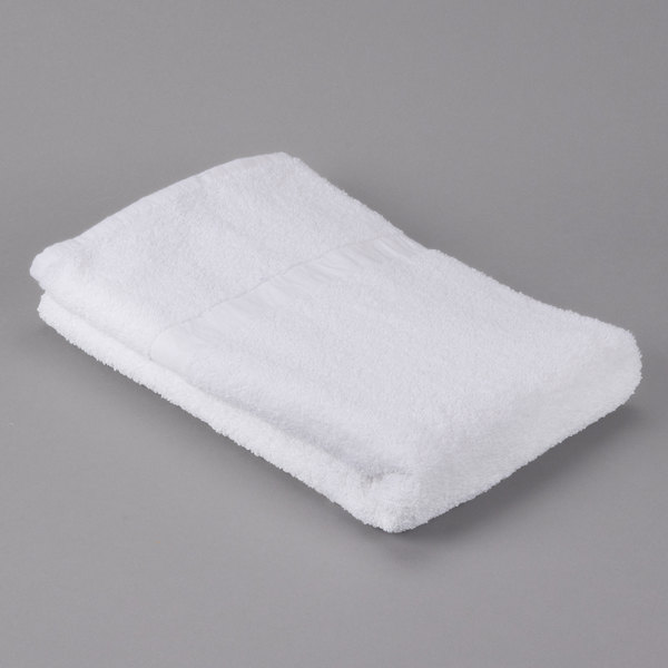 """Case of 48 Hotel Bath Towel - Oxford Gold 24"""" x 54"""" Cotton/Poly with 100% Cotton Loops Cam Border 12.5 lb."""