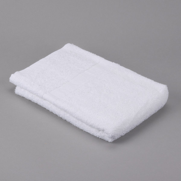 """Pack of 12 Hotel Bath Towel - Oxford Gold 24"""" x 50"""" Cotton/Poly with 100% Cotton Loops Cam Border 10 lb."""
