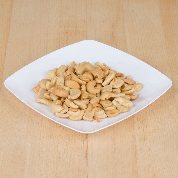 Large Cashew Pieces, Roasted and Salted - 25 lb.
