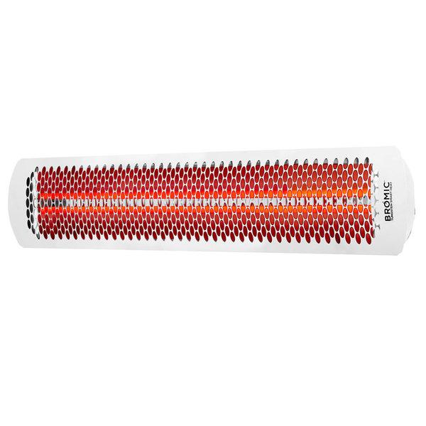 Bromic Heating BH0420013 White Tungsten Smart-Heat Electric Outdoor Patio Heater - 220/240V, 6000W