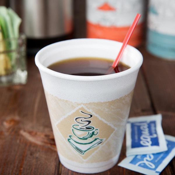 Dart 8X8G 8 oz. Espresso Foam Cup - 25/Pack