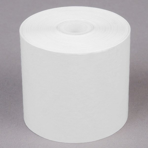 """Point Plus 2 1/4"""" x 200' Thermal Cash Register POS / Calculator Paper Roll Tape - 50/Case Main Image 1"""