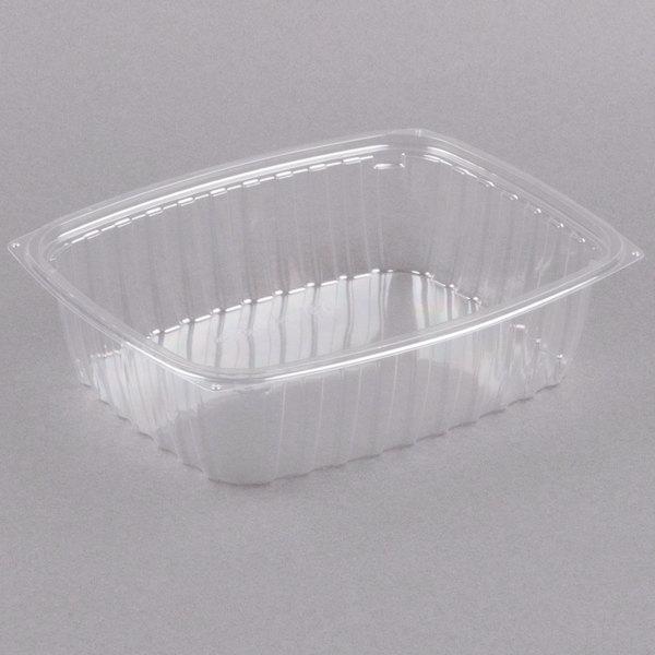 Dart C48DER ClearPac 1.5 Qt. Clear Rectangular Plastic Container - 63/Pack