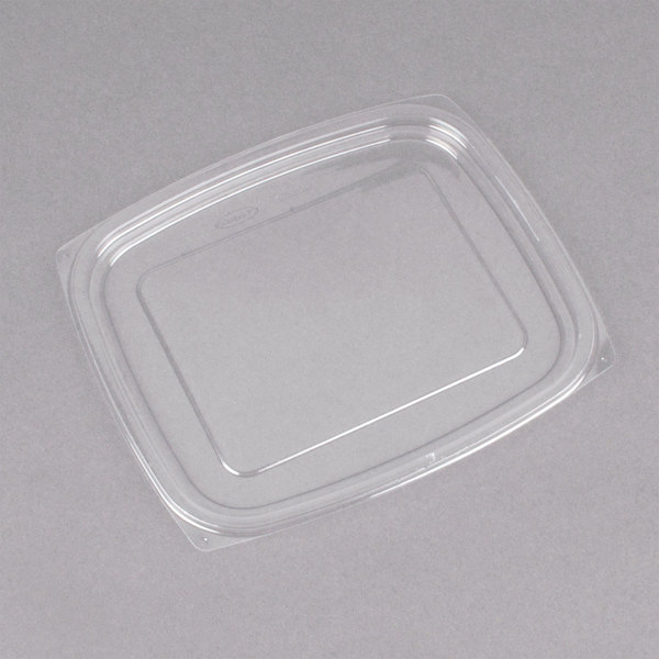 Dart C32DLR ClearPac Clear Snap-On Flat Lid for 24 and 32 oz. Plastic Containers - 63/Pack Main Image 1