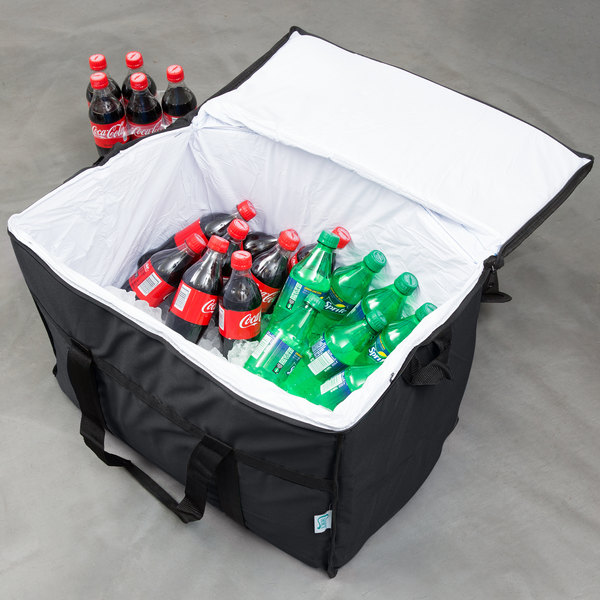 """Choice Insulated Leak Proof Cooler Bag / Soft Cooler, Black Nylon 22"""" x 13"""" x 14"""", with Foam Freeze Pack Main Image 14"""