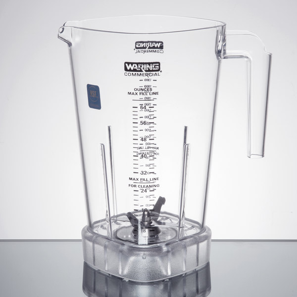 Waring 503398 64 oz. Blender Jar with Blending Assembly for Blenders Main Image 1