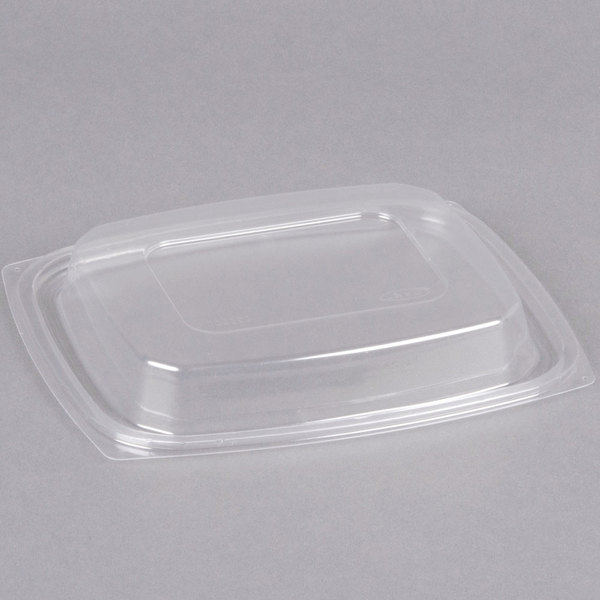 Dart C32DDLR ClearPack Clear Snap-On Dome Lid for 24 and 32 oz. Plastic Containers - 63/Pack Main Image 1