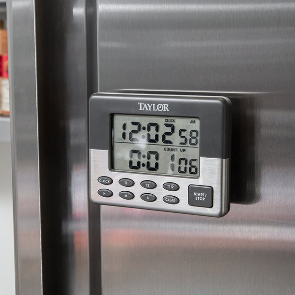 Bon Taylor 5872 9 Jumbo Digital Dual Event Kitchen Timer With Memory And Clock