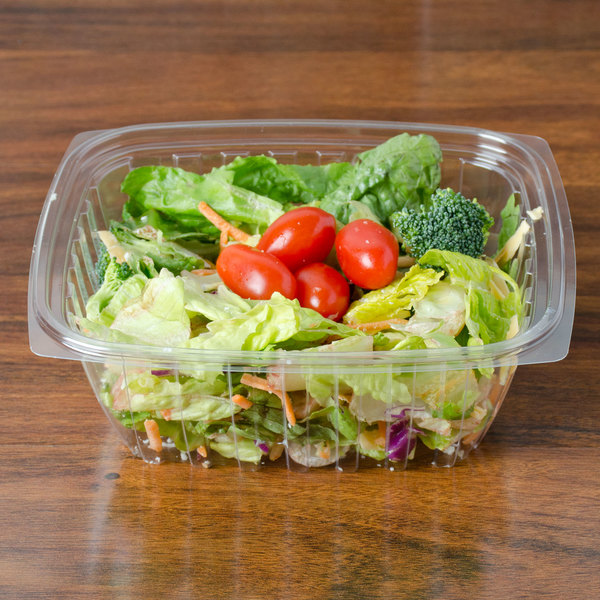 Dart C32DCPR ClearPac 32 oz. Clear Rectangular Plastic Container with Lid - 63/Pack