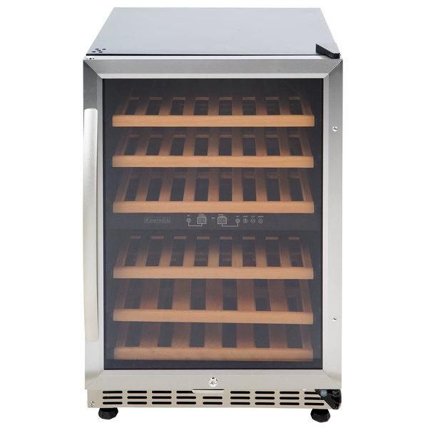 Eurodib USF54D Single Section 46-Bottle Half Height Dual Temperature Full Glass Door Wine Refrigerator Main Image 1