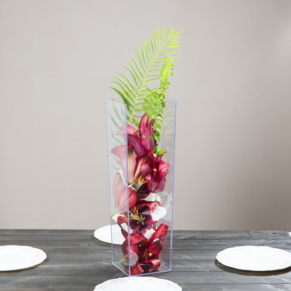 Cal Mil 879 16 5 X 16 Square Clear Acrylic Accent Display Vase