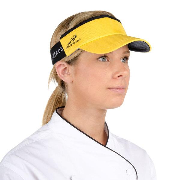 Headsweats Yellow Customizable CoolMax Chef Visor Main Image 1