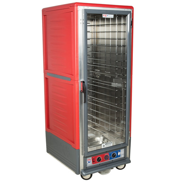 Metro C539-CLFC-4 C5 3 Series Low Wattage Heated Holding and Proofing Cabinet with Clear Single Door - Red