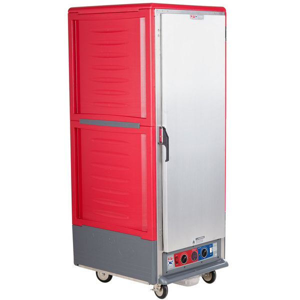 Metro C539-CLFS-U C5 3 Series Low Wattage Universal Slide Heated Holding and Proofing Cabinet with Solid Single Door - Red