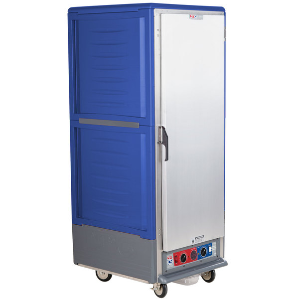 Metro C539-CLFS-L-BU C5 3 Series Low Wattage Lip Load Heated Holding and Proofing Cabinet with Solid Single Door - Blue Main Image 1