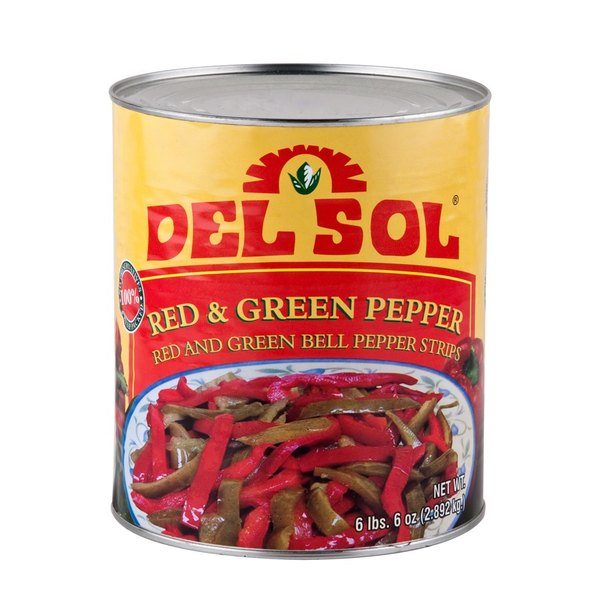 Mixed Red and Green Pepper Strips #10 Can