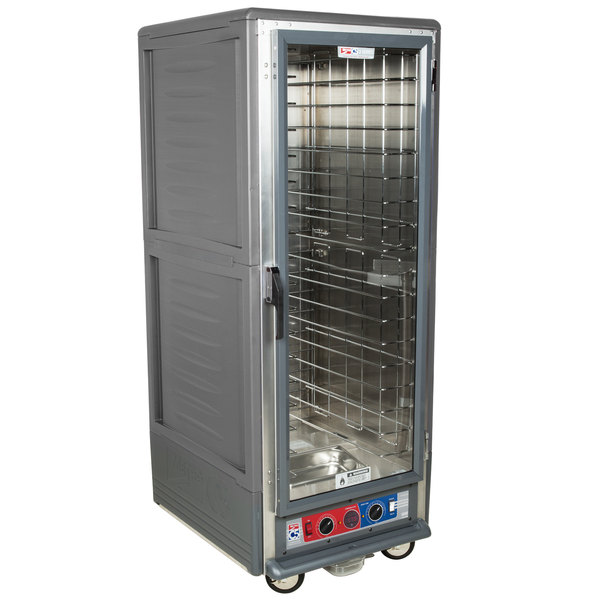 Metro C539-CLFC-L-GY C5 3 Series Low Wattage Lip Load Heated Holding and Proofing Cabinet with Clear Single Door - Gray Main Image 1