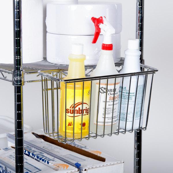 Regency Chrome Storage Basket for Wire Shelving - 13 3/8\