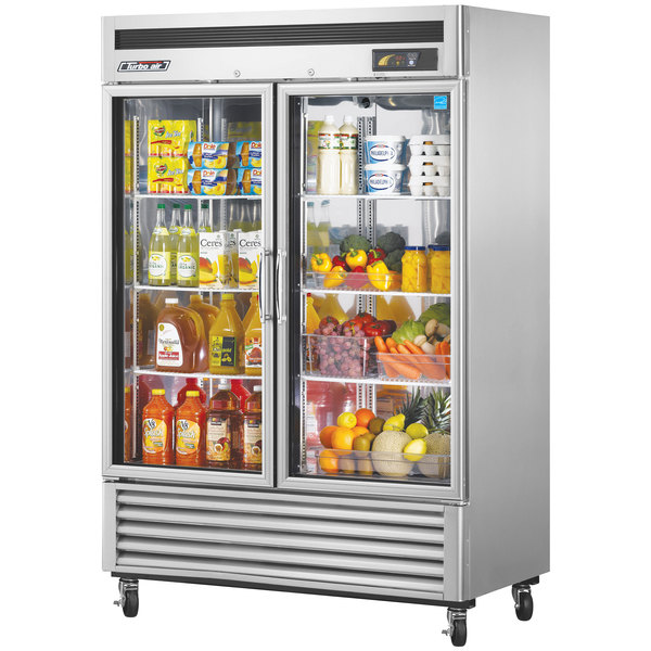 "Turbo Air TSR-49GSD-N Super Deluxe 54"" Glass Door Reach In Refrigerator Main Image 1"