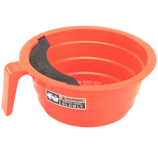 """Bunn 20583.0006 Orange Plastic Funnel with Decals for Bunn Coffee Brewers - 7 1/8"""""""