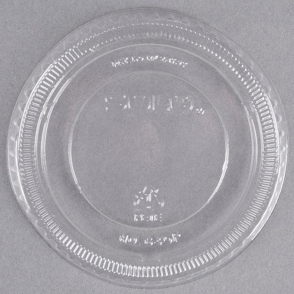 Solo 640TP Clear Plastic Non-Vented Lid - 2500/Case Main Image 1