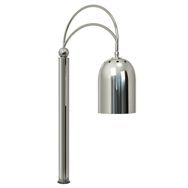 Hatco DCS400-1CM Counter Mount Single Bulb Decorative Carving Station Lamp with Bright Nickel Finish - 250W