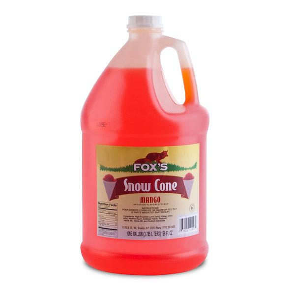 Fox's Mango Snow Cone Syrup 1 Gallon