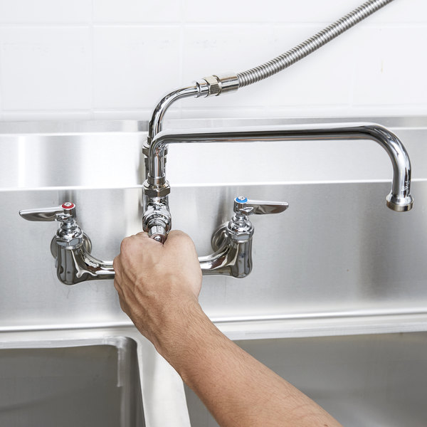 B-0175 Wall Mounted Pre-Rinse Faucet with Adjustable 8\