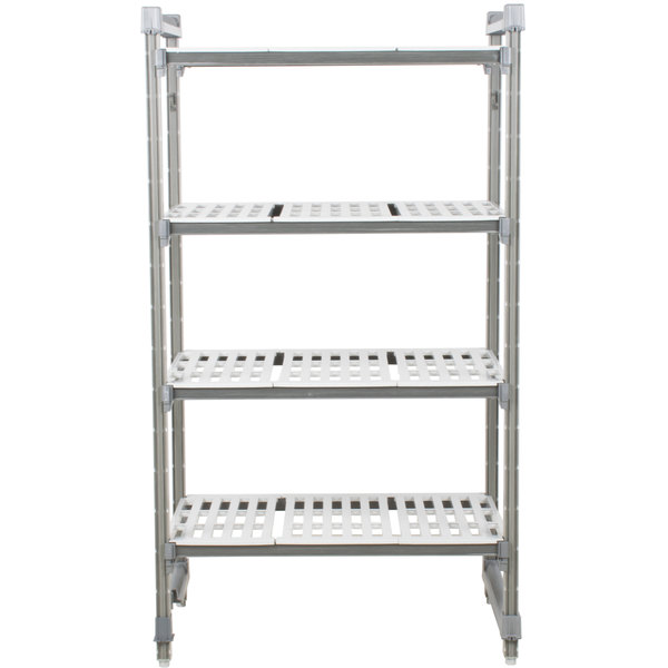 "Cambro ESU243664V4580 Camshelving® Elements Vented 4-Shelf Stationary Starter Unit - 24"" x 36"" x 64"""