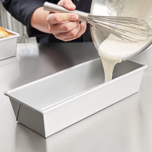"1 1/2 lb. Glazed Aluminized Steel Bread Loaf Pan - 12 1/4"" x 4 1/2"" x 2 3/4"" Main Image 6"
