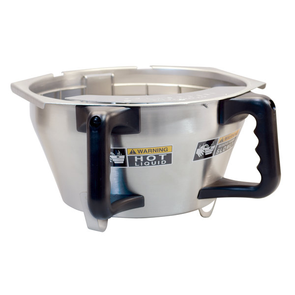Bunn 45845.0002 Stainless Steel Funnel Assembly With Black Handle Main Image 1