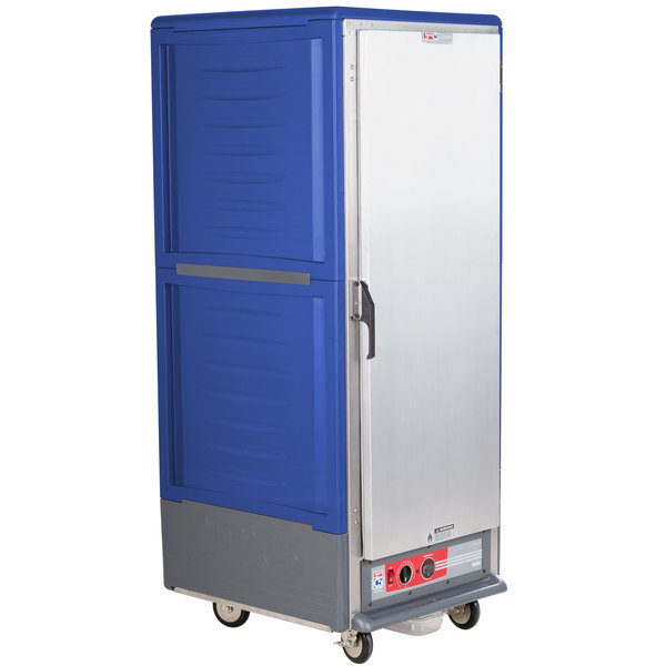 Metro C539-HLFS-L C5 3 Series Insulated Low Wattage Full Size Hot Holding Cabinet with Lip Load Aluminum Slides and Solid Door - Blue Main Image 1