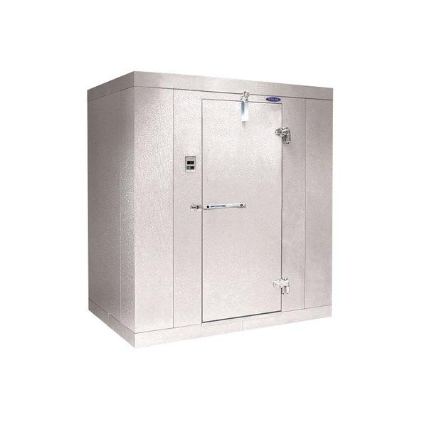 """Rt. Hinged Door Nor-Lake KL610 Kold Locker 6' x 10' x 6' 7"""" Indoor Walk-In Cooler Box"""