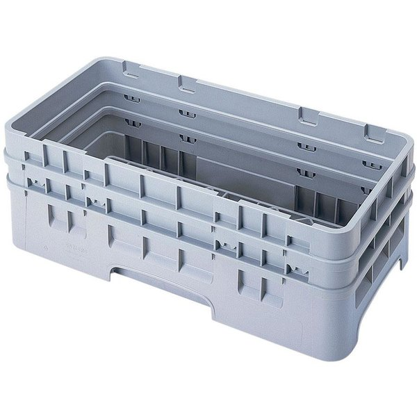 Cambro HBR578151 Soft Gray Camrack Customizable Half Size Open Base Rack with 2 Extenders