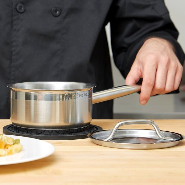 Vollrath 3800 Optio 1 Qt. Sauce Pan with Cover Main Image 2