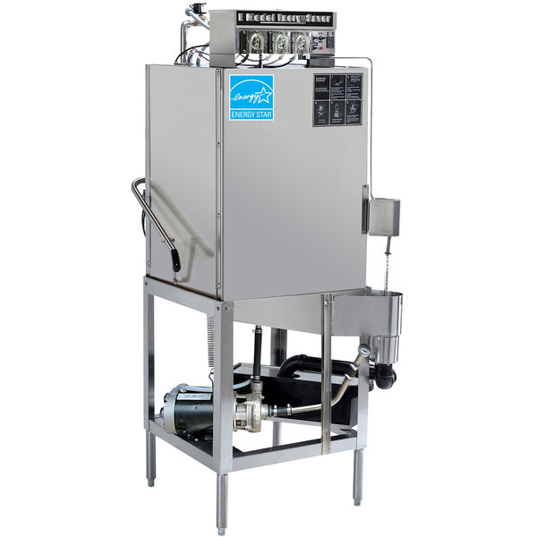 CMA Dishmachines E-AH-EXT Extended-Door Single Rack Low Temperature, Chemical Sanitizing Straight Dishwasher - 115V
