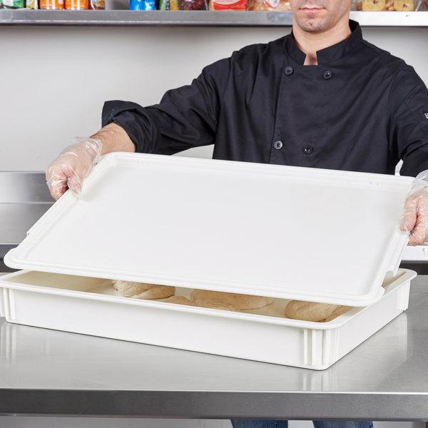 "Cambro DBC1826CW148 18"" x 26"" White Pizza Dough Proofing Box Lid"