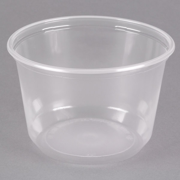 choice 16 oz customizable microwavable contact clear round deli
